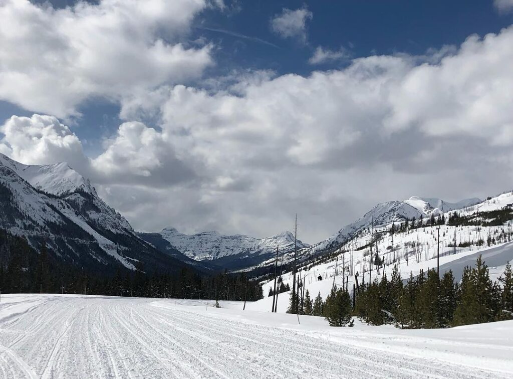Snowy Pass in Cooke City Montana